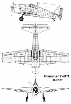 f6f3 1 3v model airplane plan