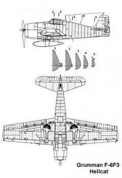 f6f3 2 3v model airplane plan