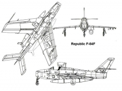 f84f 3v model airplane plan
