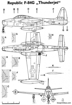 f84g thunderjet model airplane plan