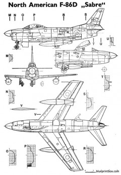 f86d sabre model airplane plan