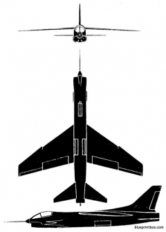 f8u crusader model airplane plan