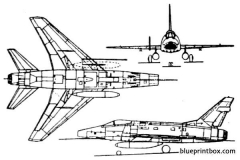 f 100 super sabre model airplane plan