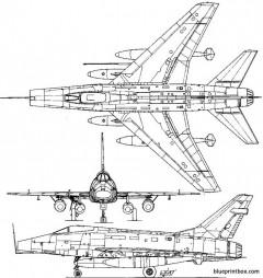 f 100d super sabre model airplane plan