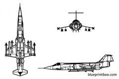 f 104 starfighter model airplane plan
