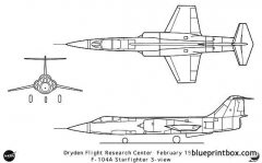 f 104a model airplane plan