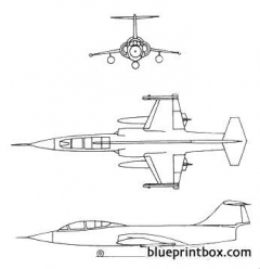 f 104a starfighter model airplane plan