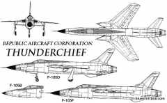 f 105 thunderchief model airplane plan