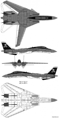 f 14 tomcat squadron vf1 model airplane plan