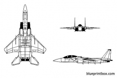 f 15 eagle model airplane plan