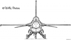 f 16 2 model airplane plan