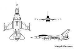 f 16 fighting falcon model airplane plan