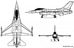 f 16c model airplane plan
