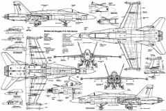 f 18 hornet model airplane plan