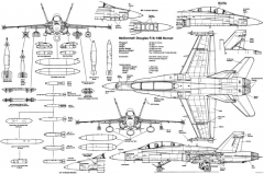 f 18 hornet 4 model airplane plan
