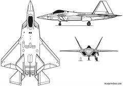f 22 3 model airplane plan