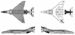 f 4b n phantom model airplane plan