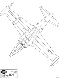 f 80 shooting star 4 model airplane plan