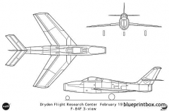 f 84f model airplane plan