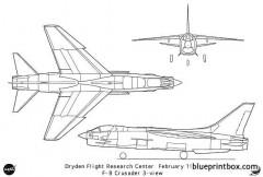 f 8crusader model airplane plan