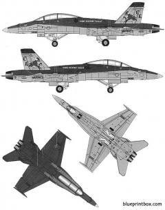 f a 18d hornet model airplane plan