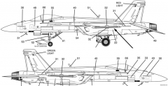 f a 18e super hornet 2 model airplane plan