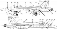 f a 18e super hornet 2 model airplane plan