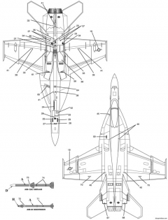 f a 18e super hornet 3 model airplane plan