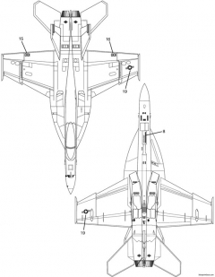 f a 18e super hornet 4 model airplane plan