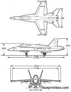 fa18 model airplane plan