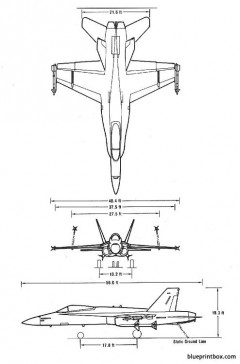 fa 18 model airplane plan