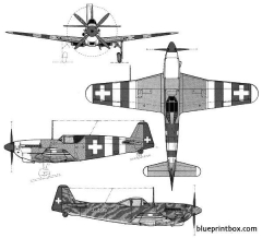 fa d 3801  3802  the swiss mustang model airplane plan