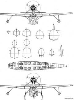 fairchild 91 5 model airplane plan