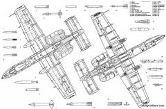 fairchild a 10 thunderbolt 3 model airplane plan
