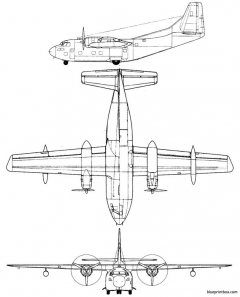 fairchild c 123 provider model airplane plan