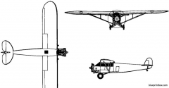 fairchild fc 1  fc 2 1926 usa model airplane plan