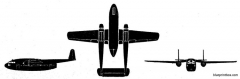 fairchild packet model airplane plan