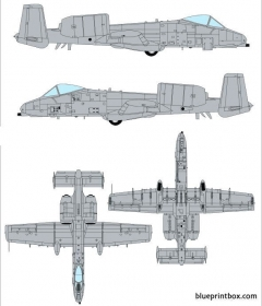 fairchild republic a 10a thunderbolt ii model airplane plan