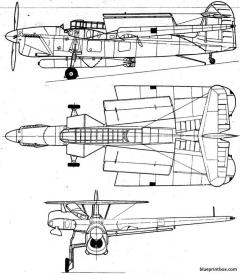 fairey barracuda 3 model airplane plan