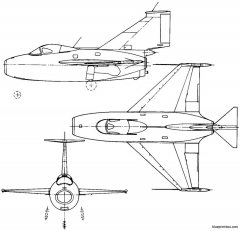 fairey fd1 1951 england model airplane plan