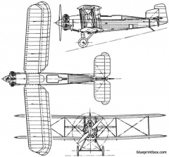 fairey ferret 1925 england model airplane plan