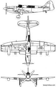 fairey firefly mk v model airplane plan