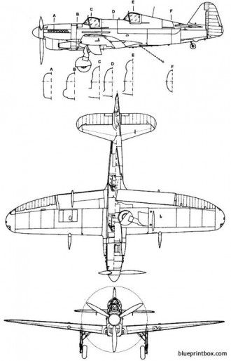 fairey firefly t 2 model airplane plan