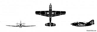 fairey gannet model airplane plan