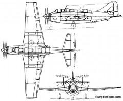 fairey gannet 1949 england model airplane plan