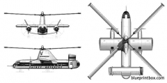 fairey rotodyne model airplane plan