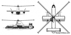 fairey rotodyne 2 model airplane plan