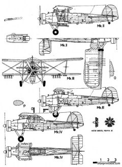 fairey swordfish mk ii model airplane plan