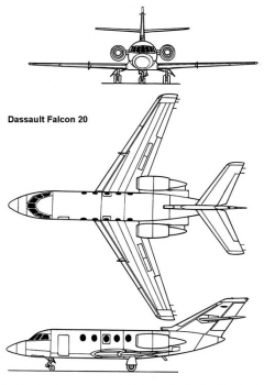 falcon20 3v model airplane plan