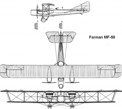 farman50 3v model airplane plan